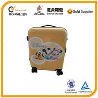 Cabin PC+ABS trolley luggage with airplane wheels travel luggage