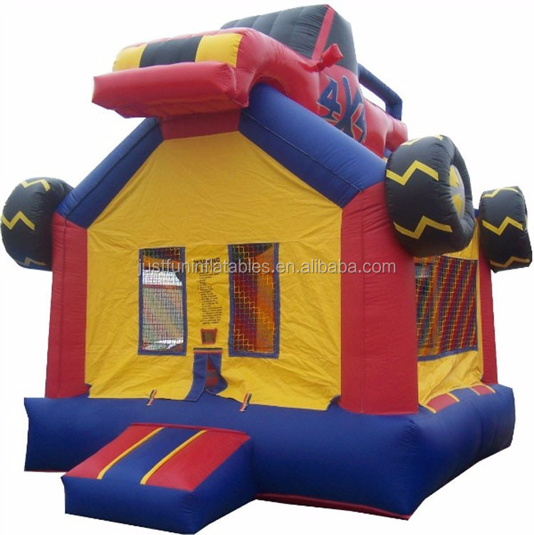 hot monster truck inflatable jumper, cheap inflatable bounce houses for sale