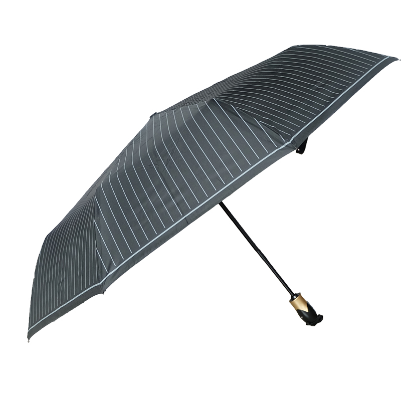 black Striped outdoor backyard aluminum patio umbrella