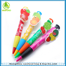 Custom fruit clip novelty ballpoint pen for gift