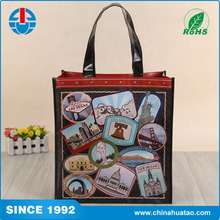 Fugang Special Design Foldable Cute Logo Tote Non Woven Lamination Shopping Bag