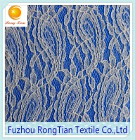 High-grade soft elastic nylon embroidery lace fabric for lingerie