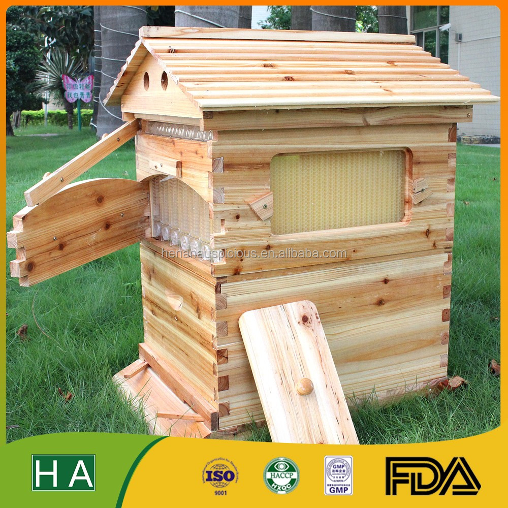 Auto honey flow wooden bee hive for sale