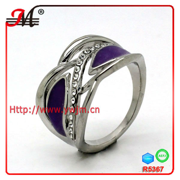 Jingmei 2013 fashion palladium plated factory jewelry man ring R5367
