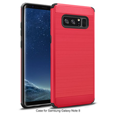 New pattern Anti dropping shockproof brush armor TPU PC case for samsung Note 8
