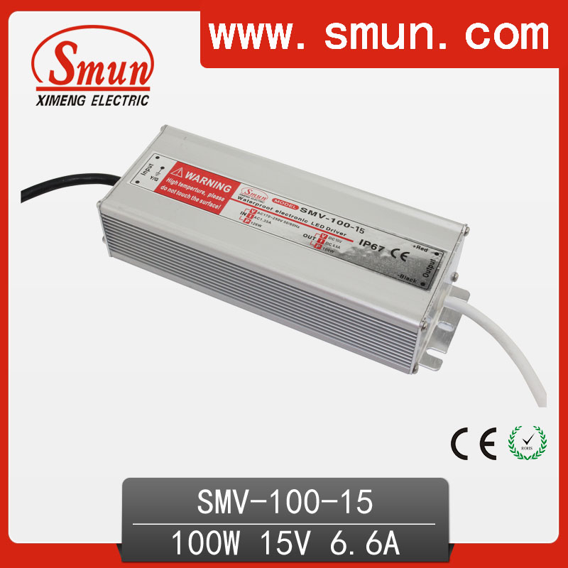 CE RoHS DC Regulated 100W 15V LED Power Supply