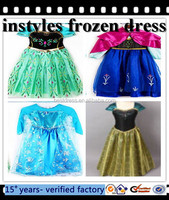 wholesale Walson instyles cheap 2015 b selling elsa dress cosplay costume in frozen elsa dress wholesale