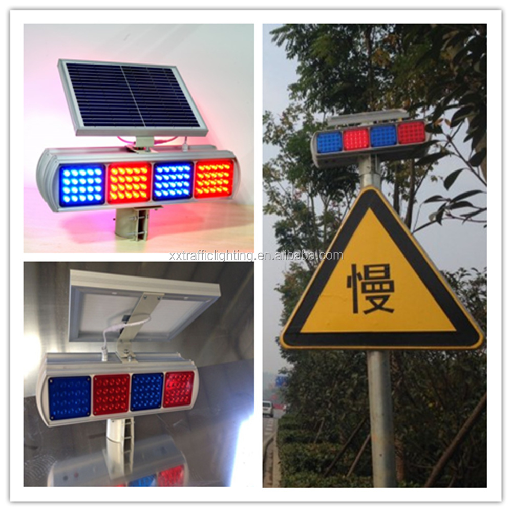 solar power flashing led remote control warning light
