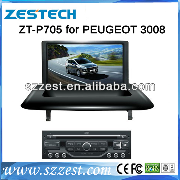 ZESTECH Car dvd factory car dvd gps for peugeot 3008 car dvd player gps navigation with 3G