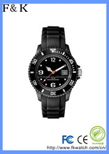 Newly Iceful silicone Jelly watch, silicone quartz kids wristband watch with stainless steel back
