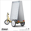 high quality two side LED billboard ESTER Advertising Trike