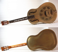 Aiersi 1933 Duolian Rolled F holes antique steel body resonator guitar