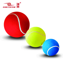 Oversize giant blue red green color inflatable 4 6 8 9.5 inch jumbo tennis ball