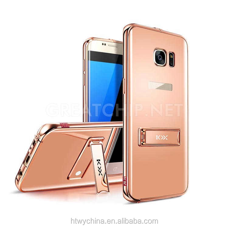 KXX luxury mirror metal cases For samsung s7 edge, metal mirror covers for samsung s7