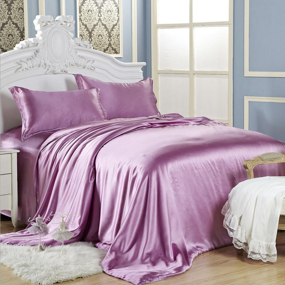 Factory directly sell 100% mulberry silk sheets satin bedding sets charmeuse bed