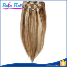 Full head human cheap clip in hair extensions for african american
