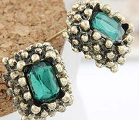 Fashion Wholesale Gold Round Cz stud earrings