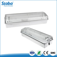 Staba maintained ABS+PC material LED Wall mounted rechargeable ip65 emergency fluorescent bulkhead light lamp
