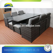 China Outdoor Leisure Garden Furniture Rattan/Wicker Dining Table Set