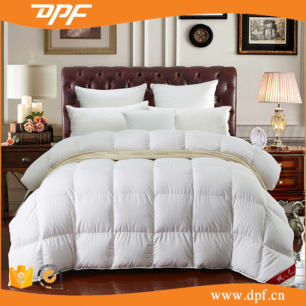 High quality 90% White Duck Down Feather Filling Duvet