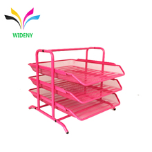 3 Tiers Office Filing Trays Holder A4 Letter Paper Wire Mesh Storage Organizer