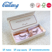 2017 HOT SALE custom empty eyelash book shape packaging paper box with Sample Free