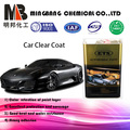 Mirror effect clear coat for automobile body paints