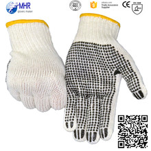 Brand MHR cheapest bleached sewing working gloves cotton work glove on one side dots