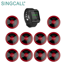 SINGCALL Restaurant Waiter Calling Queue Paging System with Watch