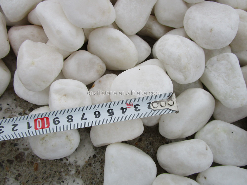 natural Round Stone Pure Snow White Pebbles pavimg stone