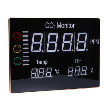HT-2008 CO2 gas analyzer / Large LCD Display CO2 Monitor