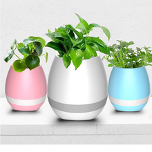 New arrival smart touch music flower pot with bluetooth speaker and night light