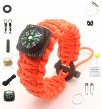 high quality survival paracord rope bracelet watch