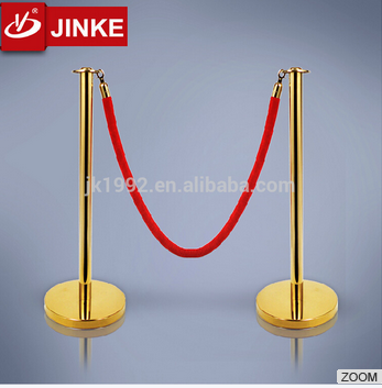 High Visibility Crowd Control Barrier Stands Stainless Steel Stanchion Post And Ropes