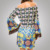 Custom Your Logo Bohemian Lovely Girl One Piece Dress Fabric Export Clothing