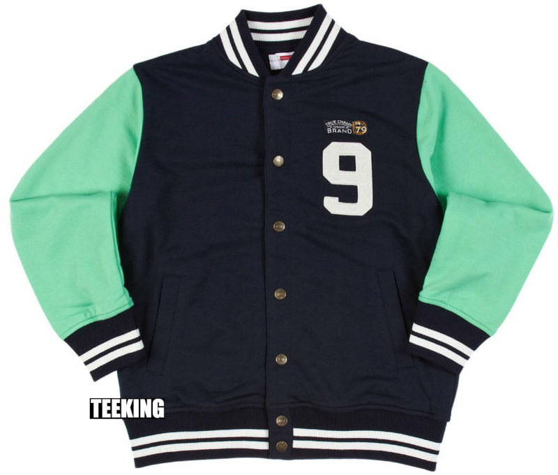 Kids baseball style school jacket