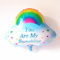 rainbow shape foil balloon color assorted balloon party decoration