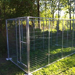 China Wholesale 1.8x1.2m Classic Galvanized Outdoor Dog Kennel