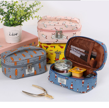 Travel Season Korea Style Wholesale Canvas Cosmetic Bag The Pouches Make Up Organizer