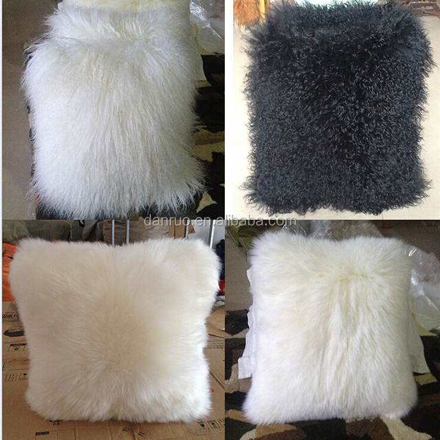 Wholesale Tibet Mongolian Lamb Curly Fur Cushion