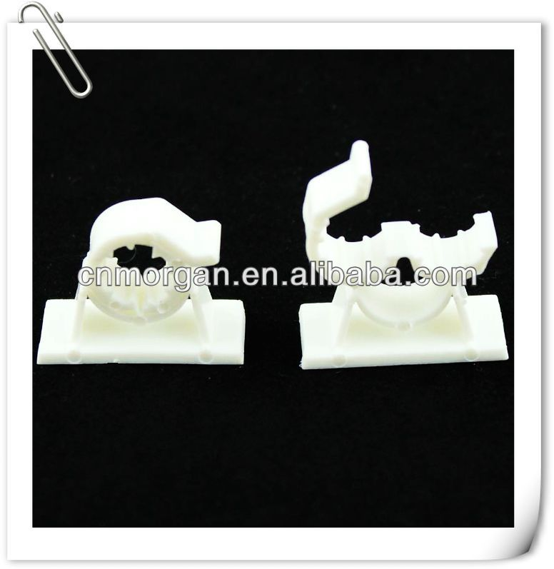 Plastic self adhesive wire clips