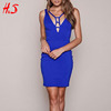 2017 China Clothing Best Price Woman Sexy Latest Dress Designs Cutout Front Fashion Bodycon Cocktail Dress