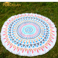 Woven Technics Cheap cotton multi-color 100% cotton round beach towel thick