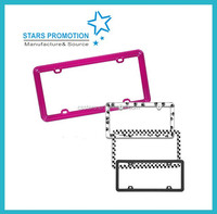 customized license plate frame; promotional license plate; colorful license holder