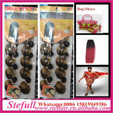 Stefull hair good quality no tangle japanese fiber colored ponytail hair extension