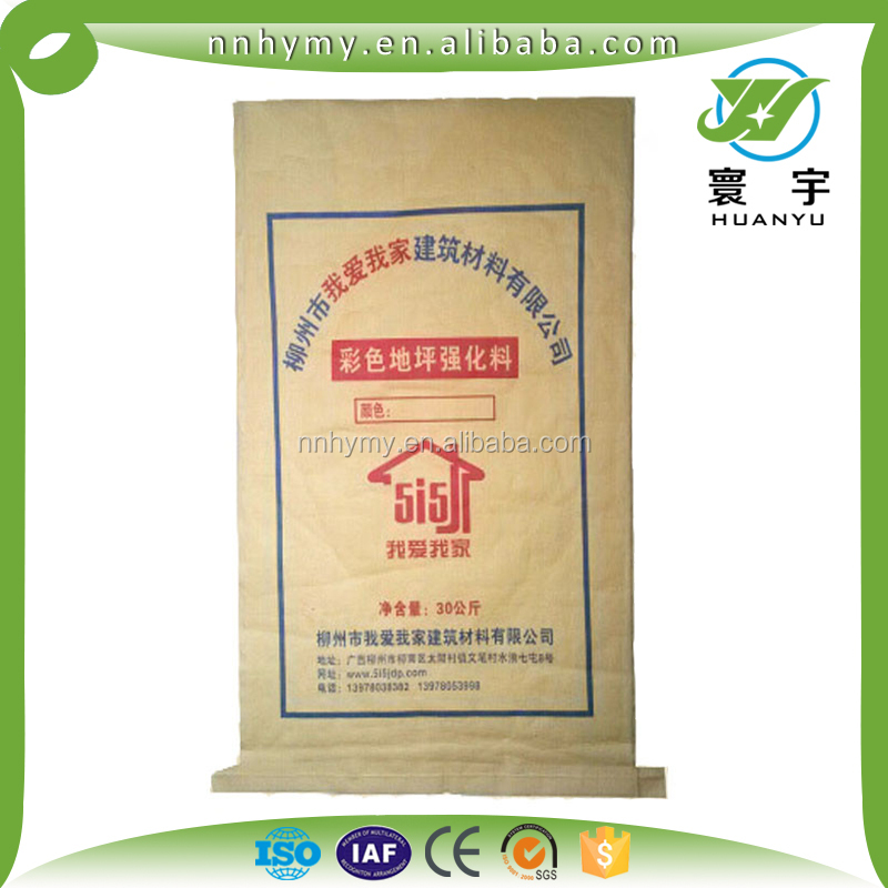 Paper chemical Paper-compound pp woven 25kgs kraft paper bag