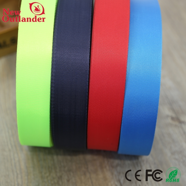 2018 Newest Style Striped Colorful Nylon Polyester Cotton Webbing Tape 50mm nylon elastic webbing