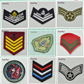 Wholesale custom crests badge embroidered sew-on patches for costs clothes