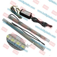 DRL AUTOMOTIVE LED LAMP,CAR DRL LED AUTO LIGHT, turn light function White & Yellow DAYTIME RUNNING LIGHT