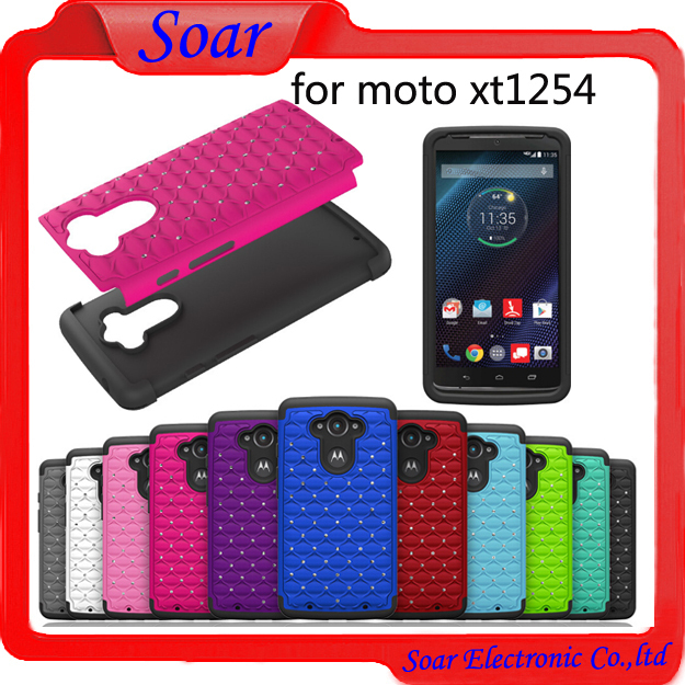 bling case for Motorola xt1254,Hybrid shochproof full star case for Motorola xt1245 cell phone case